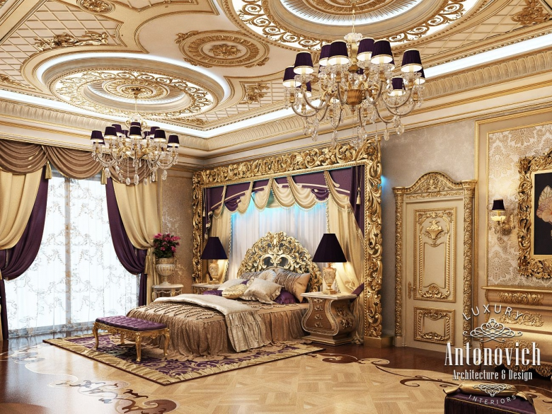 Royal master bedroom design furniture classical interior - Decor oriental design interieur luxe antonovich ...